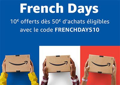 French Days : Amazon.fr offre 10€ de remise sur votre commande