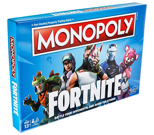Monopoly + Fortnite = Monopoly Fortnite (maj)