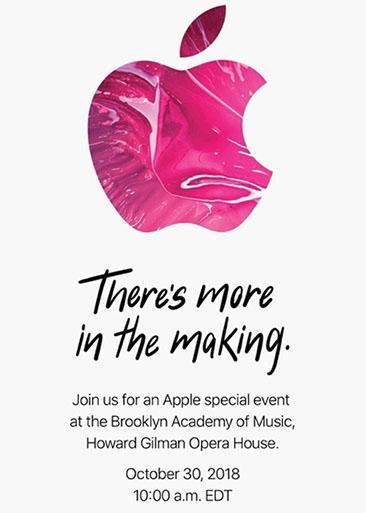 Une nouvelle keynote Apple est prévue le 30 octobre