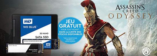 Bon Plan : le jeu Assassin's Creed : Odyssey offert pour l'achat d'un SSD Western Digital