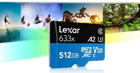 Lexar dévoile une carte micro SDXC A2 de 512 Go pour les smartphones et tablettes