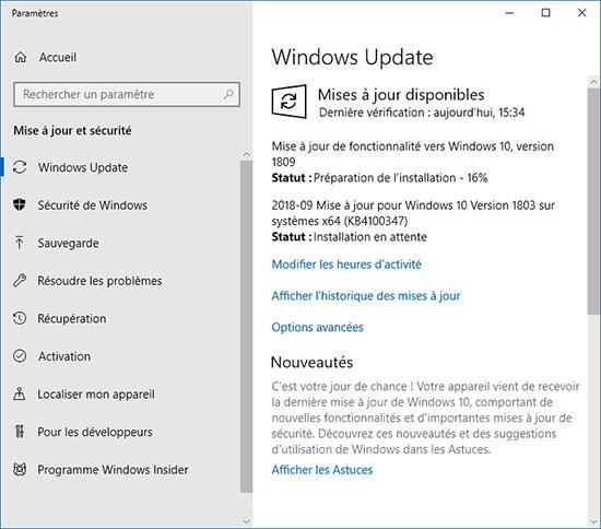 La mise à jour d'octobre de Windows 10 fait son retour…