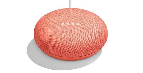 Soldes : 22€ l'enceinte connectée Google Home Mini (couleur corail)