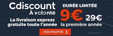 Black Friday : l'abonnement CDiscount à Volonté à 9€