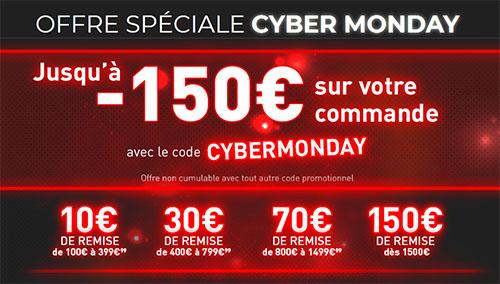 Cyber Monday : de 5 à 150€ de remise sur le site Materiel.net