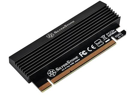 SilverStone ECM23 : un adaptateur pour brancher un SSD M.2. via un port PCI Express