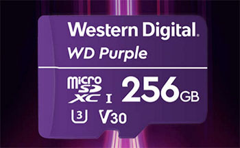 Les cartes mémoires WD Purple atteignent maintenant 256 Go de stockage
