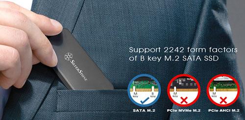 SilverStone lance le MS09-Mini : un boitier pour transformer les SSD M.2. en clé USB 3.1