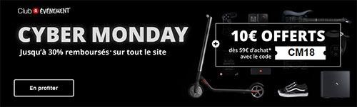 Cyber Monday : Rakuten offre 10€ de remise aujourd'hui