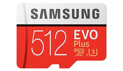 Samsung présente une carte micro SDXC de 512 Go dans sa gamme EVO Plus (maj : dispo)