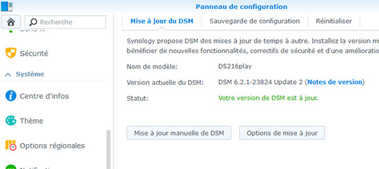 Les NAS Synology ont droit à une nouvelle mise à jour de DSM