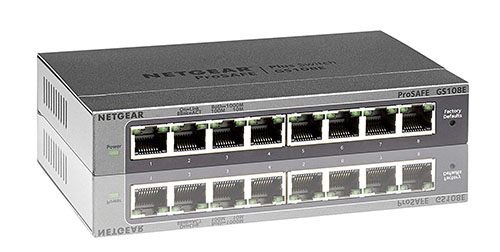 Vente flash : 29€ le switch 8 ports NETGEAR GS108E-300PES