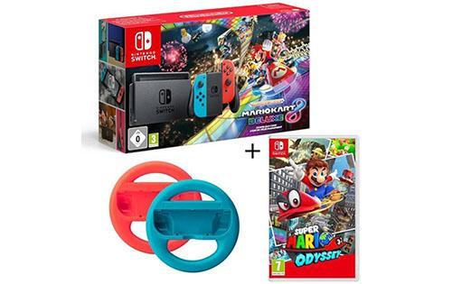 Bon Plan : le pack Nintendo Switch + Mario Kart +Mario Odyssey + 2 volants à 352 euros