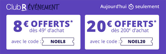 Bon Plan : Rakuten offre aujourd'hui 8€ ou 20€ de remise