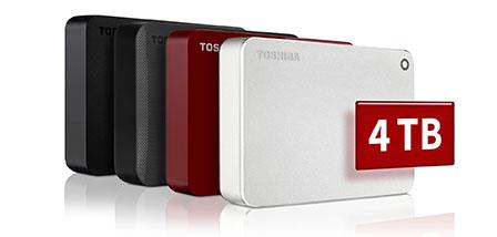 Les disques durs Canvio de Toshiba sortent en version 4 To