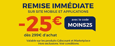 Soldes : CDiscount vous offre 25€ de remise via son application mobile (maj)