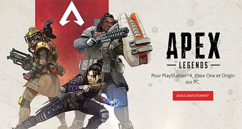Apex Legends cartonne : 25 millions de joueurs déjà !
