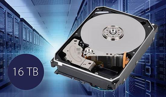Les disques durs Toshiba franchissent un nouveau cap : 16 To !