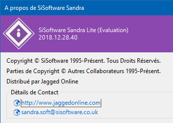 Sandra 2018 passe à la version 28.40