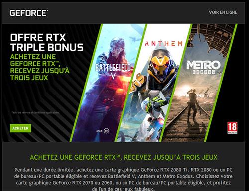 Un nouveau bundle de jeux chez NVIDIA