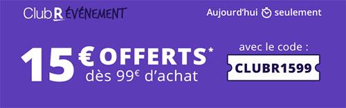 Bon Plan : Rakuten offre 15€ de remise jusqu'à ce soir