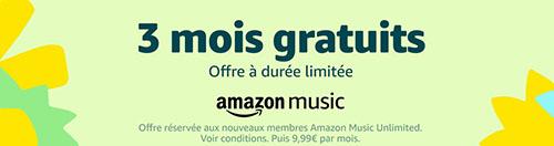 Bon Plan : Amazon Music Unlimited gratuit pendant trois mois