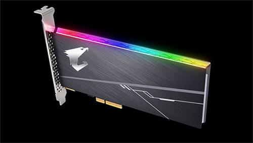 Gigabyte dévoile un SSD performant au format PCI Express avec éclairage RGB intégré