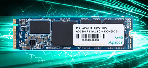 APACER annonce le SSD M.2. NVMe AS2280P4 en NAND Flash 3D TLC