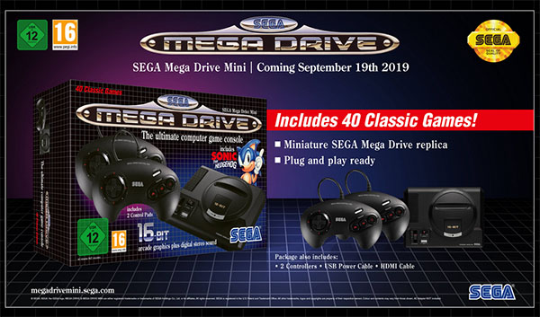 La Mega Drive Mini sera disponible le 19 septembre (maj : les précommandes sont ouvertes)