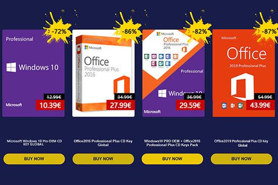 Promotion de printemps : Windows 10 Pro à 10 euros et d'autres logiciels à prix réduits