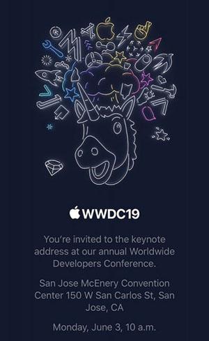 WWDC19 : Apple tiendra une keynote le 3 juin