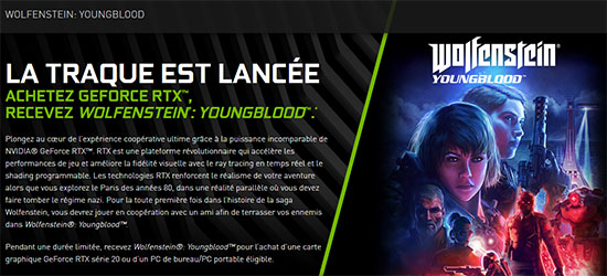 Nouveau bundle : NVIDIA offre maintenant Wolfenstein Youngblood