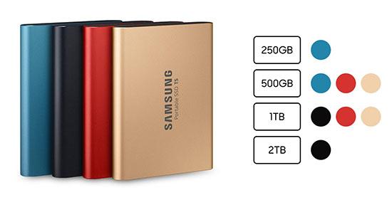 Deux nouveaux coloris pour le SSD Samsung T5 portable