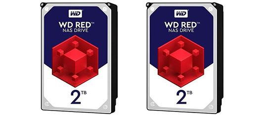 Bon Plan : le pack de 2 WD RED 2 To à 74,99€ et le pack de 2 WD RED 4 To à 119,99€
