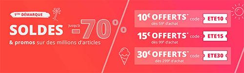 Soldes : Rakuten offre 10€, 15€ ou 30€ de remise sur l'ensemble du site