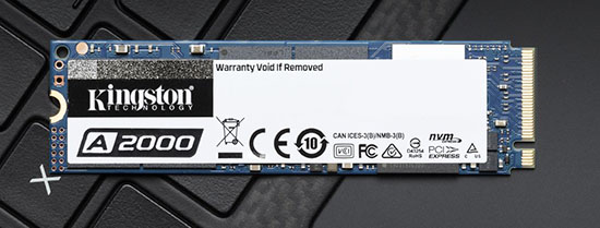 Le SSD M.2. NVMe Kingston A2000 est officiellement disponible en boutiques (dès 59€)