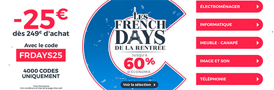 French Days : 25€ de remise chez CDiscount !