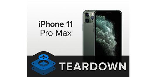 iFixit démonte l'iPhone 11 Pro Max et lui attribue un 6 sur 10