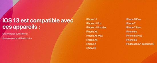 iOS 13 sera dispo la semaine prochaine, quels terminaux seront éligibles ?