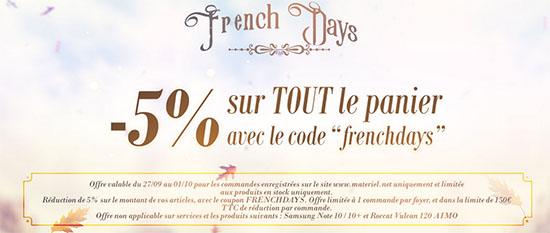 French Days : 5% de remise chez Materiel.net !