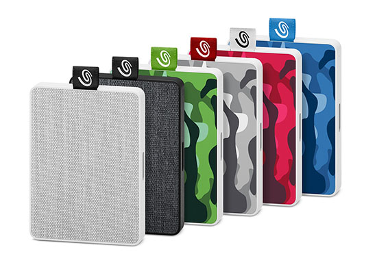 Seagate lance le One Touch : un SSD portable avec revêtement en tissu ou motifs camouflage