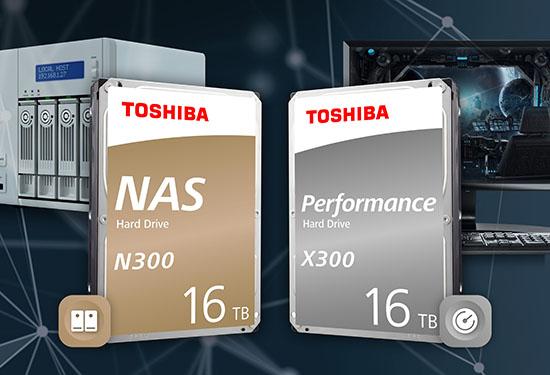 Voilà des disques durs de 16 To pour les PC et les NAS chez Toshiba