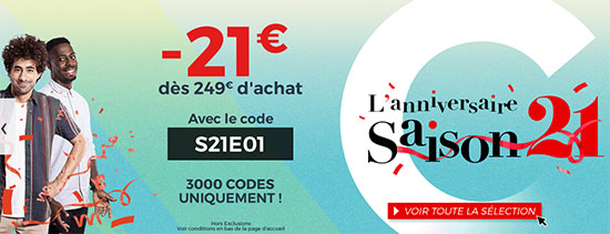 Bon Plan : 21€ de remise dès 249€ d'achats chez CDiscount