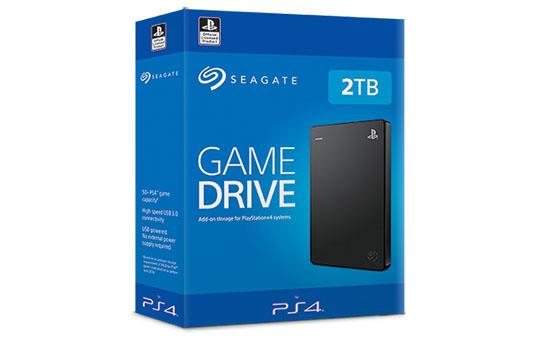 Un disque dur portable de 2 To pour la Playstation 4 chez Seagate