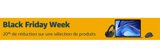 Bon Plan – Black Friday : Amazon.fr offre 20% de remise sur une sélection de produits reconditionnés