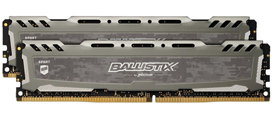 Bon Plan – Black Friday : 69€ le kit DDR4 Crucial Ballistix 16 Go 3200 Mhz