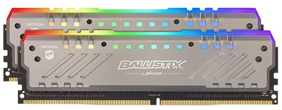 Bon Plan – Black Friday : le kit Crucial Ballistix Tactical RGB 16 Go DDR4 3200 Mhz est à 74,99€