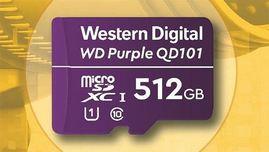 Une carte microSD WD Purple de 512 Go taillée pour la vidéo surveillance