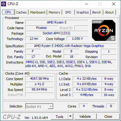 CPU-Z est disponible en version 1.91