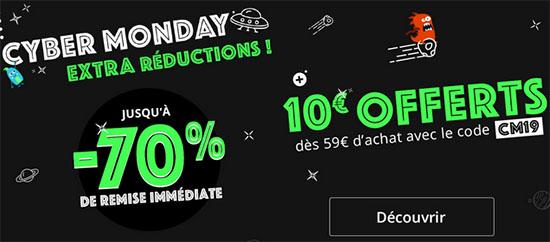Bon Plan : Rakuten offre 10€ de réduction aujourd'hui à l'occasion du Cyber Monday